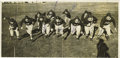 Football Collectibles:Others, 1938 Texas Christian University Team Signed Panoramic Wire Photograph with Davey O'Brien. The greatest season in TCU histor...