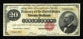 Large Size:Gold Certificates, Fr. 1178 $20 1882 Gold Certificate Fine+. Vibrant hues remain on this early Gold note that has a little margin roughness at ...