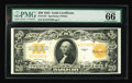 Large Size:Gold Certificates, Fr. 1187 $20 1922 Gold Certificate PMG Gem Uncirculated 66.Beautifully margined, with stunning bright colors and original e...