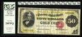Large Size:Gold Certificates, Fr. 1197 $50 1882 Gold Certificate PCGS Very Fine 20PPQ. This isanother wholly original note that came to us from a hoard o...