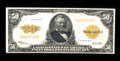 Large Size:Gold Certificates, Fr. 1200 $50 1922 Gold Certificate Very Fine. This note which isquite flat exhibits vibrant color. The surfaces have a some...
