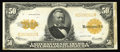Large Size:Gold Certificates, Fr. 1200 $50 1922 Mule Gold Certificate Very Fine Radar. Not a lot of attention is paid to Large Size mules, but this certai...