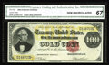 Large Size:Gold Certificates, Fr. 1207 $100 1882 Gold Certificate CGA Gem Uncirculated 67. Lastappearing in Lyn Knight's sale of the Great Lakes Collecti...