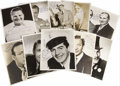 "Movie/TV Memorabilia:Autographs and Signed Items, Assorted Vintage Actor- and Entertainer-Signed Photos. Set of tenb&w 8"" x 10"" photos inscribed and signed by Victor Mature,...(Total: 1 Item)"
