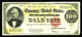 Large Size:Gold Certificates, Fr. 1215 $100 1922 Gold Certificate Very Fine. For your biddingpleasure we have this evenly circulated mid-grade example th...