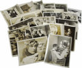 "Movie/TV Memorabilia:Photos, Assorted Vintage ""Forgotten Hollywood"" Publicity Photos. Set of 21vintage b&w 8"" x 10"" publicity photos for various 1930s r...(Total: 1 Item)"