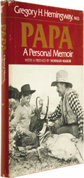 Movie/TV Memorabilia:Autographs and Signed Items, Gregory Hemingway Signed Book. A copy of Gregory Hemingway's 1976 book Papa: A Personal Memoir, signed by him on the fro... (Total: 1 Item)