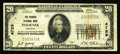 National Bank Notes:Arizona, Phoenix, AZ - $20 1929 Ty. 1 The Phoenix NB Ch. # 4729. A nice evenly circulated example from this red hot state. Arizon...