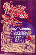 Music Memorabilia:Posters, Chambers Brothers/Eric Burdon and the Animals Fillmore West ConcertPoster BG-132 (Bill Graham, 1968) Art by Lee Conklin. O... (Total:1 Item)