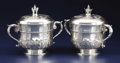 Silver Holloware, American:Cups, A Pair of American Silver Covered Cups. Unknown maker, American.20th century. Silver. Marks: STERLING . 8.25 inches h...