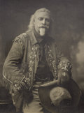 "Photography:Official Photos, VERY DESIRABLE BUFFALO BILL INSCRIBED AND SIGNED SILVER PRINT.Impressive 8"" x 10"" studio silver print of Buffalo Bill Cody ...(Total: 1 Item)"