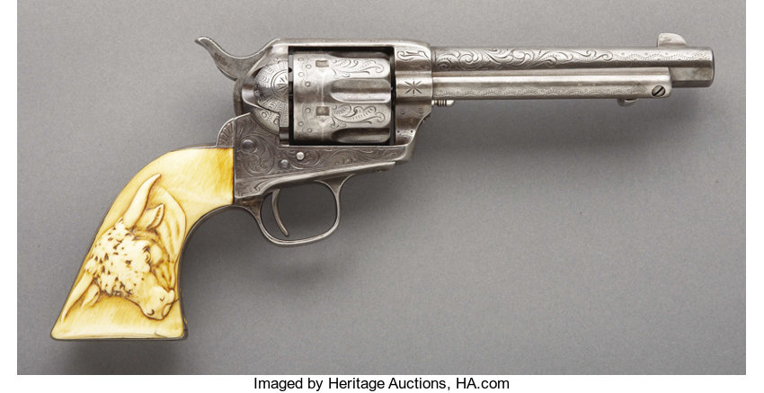 ENGRAVED COLT SINGLE ACTION REVOLVER WITH \