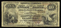 National Bank Notes:Colorado, Leadville, CO - $10 1882 Brown Back Fr. 487 The Carbonate NB Ch. # (W)3746. Large notes only from this better Colorado b...