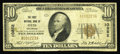 National Bank Notes:Colorado, Otis, CO - $10 1929 Ty. 1 The First NB Ch. # 10852. An extremelyscarce note from the sole bank to issue in this NE Colo...