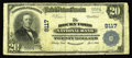 National Bank Notes:Colorado, Rocky Ford, CO - $20 1902 Plain Back Fr. 652 The Rocky Ford NB Ch.# 9117. Though this rough and tumble town had two iss...