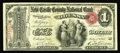 Odessa, DE - $1 Original Fr. 380 The New Castle County NB Ch. # 1281 A very rare type and denomination from Delaware. T...