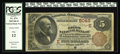 National Bank Notes:District of Columbia, Washington, DC - $5 1882 Brown Back Fr. 474 The Riggs NB Ch. # (E)5046. The cashier's stamped signature shows some loss,...
