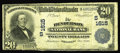 National Bank Notes:Kentucky, Henderson, KY - $20 1902 Plain Back Fr. 651 The Henderson NB Ch. #(S)1615. This was the first of four banks to be chart...