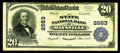 National Bank Notes:Kentucky, Maysville, KY - $20 1902 Plain Back Fr. 660 The State NB Ch. #2663. This is an example of a so-called Fourth Charter no...