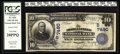 National Bank Notes:Kentucky, Morganfield, KY - $10 1902 Plain Back Fr. 624 The Morganfield NBCh. # (S)7490. The large size census from here stands a...