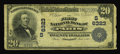 National Bank Notes:Kentucky, Paris, KY - $20 1902 Plain Back Fr. 650 The First NB Ch. # (S)6323.The signatures have faded from this $20 that has a c...