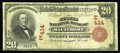 National Bank Notes:Maryland, Baltimore, MD - $20 1902 Red Seal Fr. 639 The Second NB Ch. #(E)414. With the discovery of this $20 Red Seal the census...