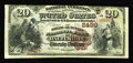 National Bank Notes:Maryland, Baltimore, MD - $20 1882 Brown Back Fr. 504 The Drovers &Mechanics NB Ch. # (E)2499. Crispy and bright is this $20 that...
