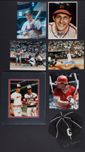 Baseball Collectibles:Others, Baseball Greats Signed Memorabilia Lot of 7....