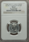 French Equatorial Africa, French Equatorial Africa: French Colony Piefort Essai 1 Franc 1948MS63 NGC,...