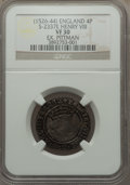 Great Britain, Great Britain: Henry VIII Groat ND Second Coinage (1526-44) VF30 NGC,...
