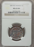 Mexico, Mexico: Republic 1 Centavo 1891 Mo MS65 Brown NGC,...