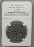 Mexico, Mexico: Oaxaca 8 Reales copper Sud 1813 VF35 Brown NGC,...