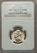 1944-P Jefferson Nickel -- Broadstruck -- MS64 Six Full Steps NGC