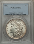 1893 $1 MS62 PCGS. PCGS Population (772/2661). NGC Census: (461/1453). Mintage: 389,792. Numismedia Wsl. Price for probl...