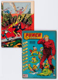 Golden Age (1938-1955):Superhero, Punch Comics #2 and 19 Group (Chesler, 1942-46) Condition: Average FR.... (Total: 2 Comic Books)