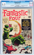 Silver Age (1956-1969):Superhero, Fantastic Four #1 (Marvel, 1961) CGC FN+ 6.5 Off-white to whitepages....