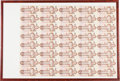Canadian Currency: , $2 1986 Uncut Sheet of Forty. ...