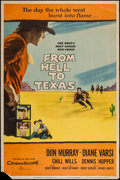 """Movie Posters:Western, From Hell To Texas & Others Lot (20th Century Fox, 1958). Posters (3) (40"""" X 60"""") Style Z. Western.. ... (Total: 3 Items)"""