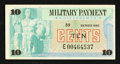 Military Payment Certificates:Series 692, Series 692 10¢ Replacement Very Fine-Extremely Fine.. ...