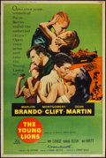 """Movie Posters:War, The Young Lions (20th Century Fox, 1958). Poster (40"""" X 60"""") StyleY. War.. ..."""