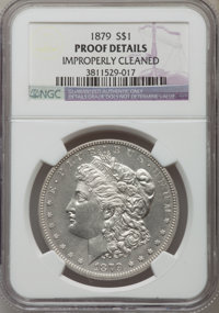 1879 $1 -- Improperly Cleaned -- NGC Details. Proof. NGC Census: (6/256). PCGS Population (14/283). Mintage: 1,100. Numi...