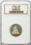 Proof Seated Quarters: , 1870 25C PR64 NGC. NGC Census: (46/27). PCGS Population (36/14).Mintage: 1,000. Numismedia Wsl. Price for problem free NGC...