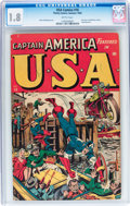 Golden Age (1938-1955):Superhero, USA Comics #16 (Timely, 1945) CGC GD- 1.8 Brittle pages....