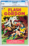 Golden Age (1938-1955):Miscellaneous, Four Color #190 Flash Gordon (Dell, 1948) CGC VF/NM 9.0 Off-white to white pages....
