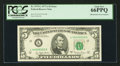 Error Notes:Mismatched Serial Numbers, Fr. 1975-L $5 1977A Federal Reserve Note. PCGS Gem New 66PPQ.. ...