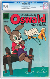 Four Color #979 Oswald the Rabbit - File Copy (Dell, 1959) CGC NM 9.4 Cream to off-white pages