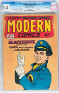 Golden Age (1938-1955):War, Modern Comics #63 Double Cover (Quality, 1947) CGC NM 9.4 Off-whiteto white pages....