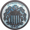 Patterns, 1866 5C Shield Five Cents, Judd-491, Pollock-578, Low R.7, PR66 ★ Brown Cameo NGC....