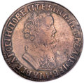 Russia, Russia: Peter I Rouble A?? (1705) MД Reversed E in Date VF20 NGC,...
