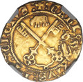 Italy, Italy: Papal States. Calixtus III gold Zecchino (Florin of 24 Sols)ND (1455-58) VF Details (Removed from Jewelry) NGC,...